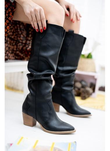 Derithy Çizme Siyah